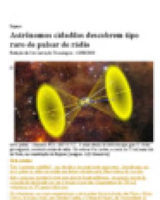 Astrônomos Cidadãos Descobrem Tipo Raro De Pulsar De Rádio