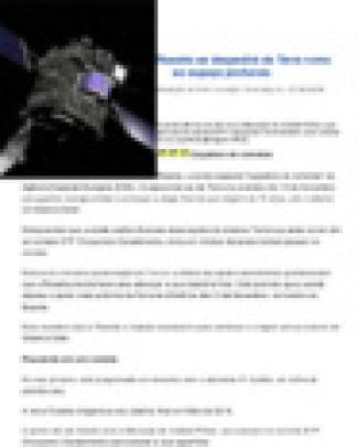 Rosetta Se Despedirá Da Terra Rumo Ao Espaço Profundo
