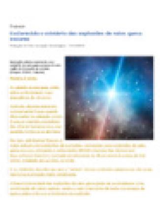 Esclarecido O Mistério Das Explosões De Raios Gama Escuras