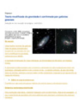 Teoria Modificada Da Gravidade é Confirmada Por Galáxias Gasosas