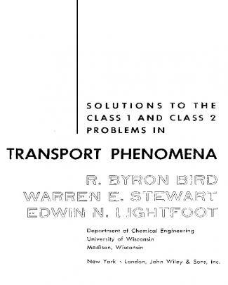 Fenomenos De Tran... Em Inglês - Bird - Problems In Transport Phenomena