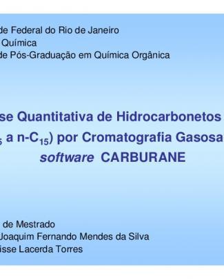 Análise Quantitativa De Hidrocarbonetos