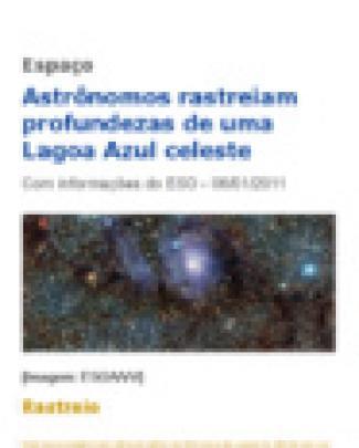 Astrônomos Rastreiam Profundezas De Uma Lagoa Azul Celeste