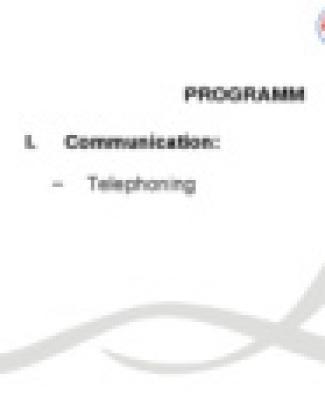 Communication Telephoning