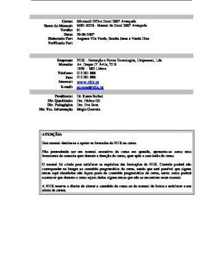 Mi01-0228 - Manual De Excel 2007 Avançado