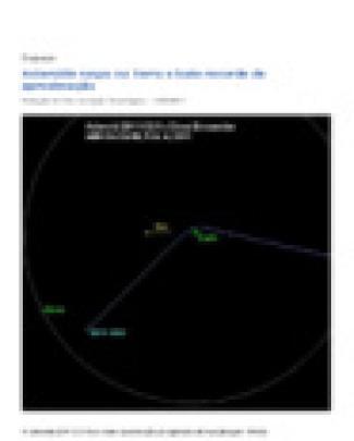 Asteroide Raspa Na Terra E Bate Recorde De Aproximação