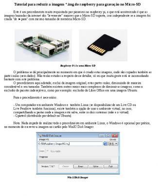 Tutorial Redução Imagens Para Raspberry Pi