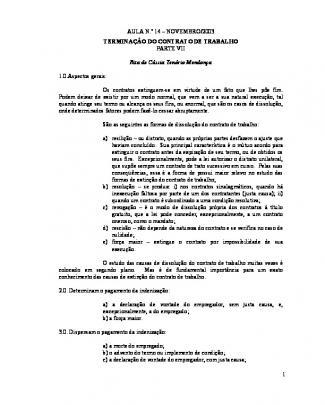 Trab - Dissoluçao Do Contrato