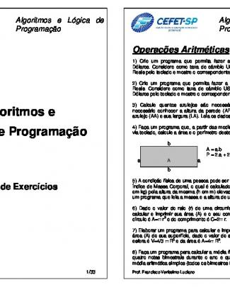 Exercícios De Lógica De Programação