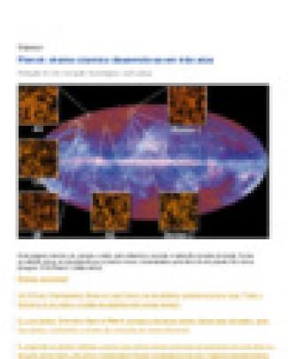 Planck Drama Cósmico Desenrola-se Em Três Atos