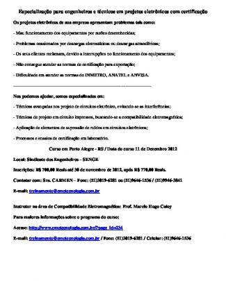 Especialização Para Engenheiros E Técnicos Em Projetos Eletrônicos Com Certificação
