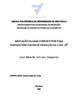Gerenciamento Obras - Godoi Part1 - Aplica??o De Lean Na Casa 1.0