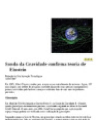 Sonda Da Gravidade Confirma Teoria De Einstein