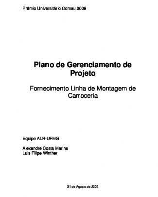 Plano De Gerenciamento Do Projeto - Alr Ufmg