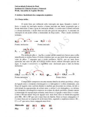 3-acidez E Basicidade Dos Compostos Orgânicos