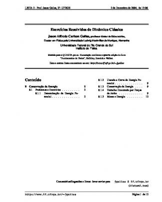 Manual De Resoluçõe...física I - Halliday - Cap.8 Conserva??o Da Energia