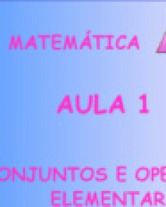 Exercicios Resolvidos Matematica - Aula 1 Conjuntos E Operações