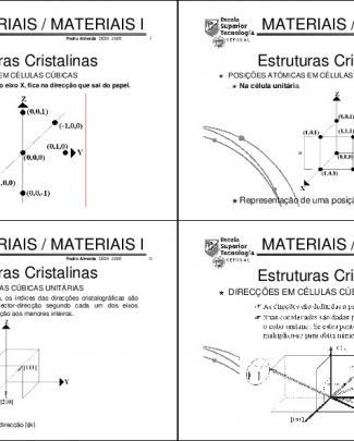Engenharia Dos Materiais - 3 Aula