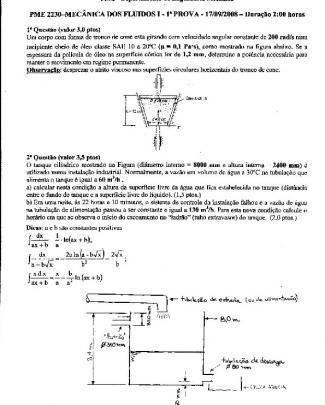 Pme2230 Mecflu Poli Usp P1 P2 P3 Coletânia - P1 2008