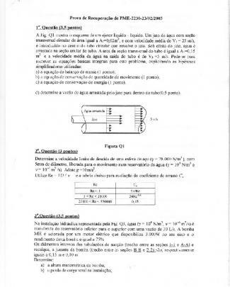 Pme2230 Mecflu Poli Usp P1 P2 P3 Coletânia - Psub E Prec Pme2230