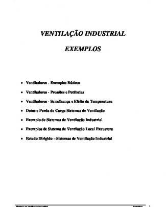 Lista De Exemplos Ventiladores
