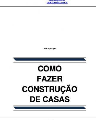 Como Fazer Construção De Casas