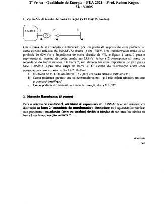 P2 - Pea2521 - Qualidade - 2005