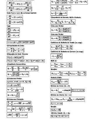 Formulário De Linhas De Transmissão