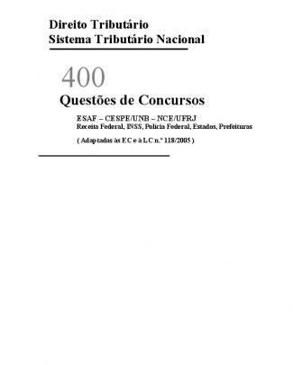 400 Exercícios De Direito Tributário