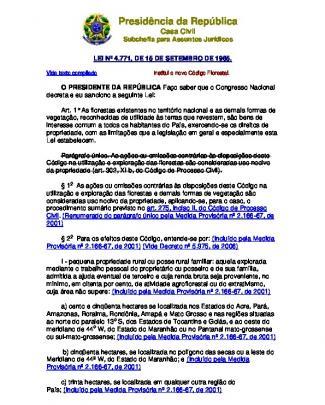 Código Florestal - Lei 4771 De 1965