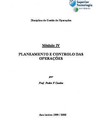 Mod 4 Planeamento Controlo Operações