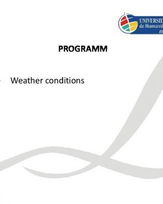Ingles -condições Meteorológicas