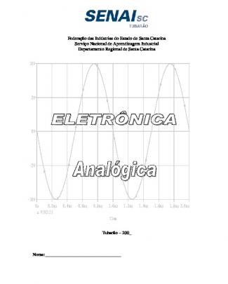140 - Apostilas - Senai - Eletronica Analogica