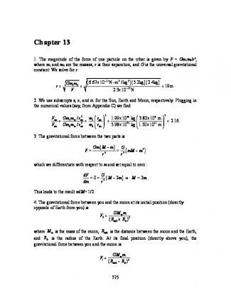 Solucionário Halliday 8ª Edição Vol. 2 - Ch13