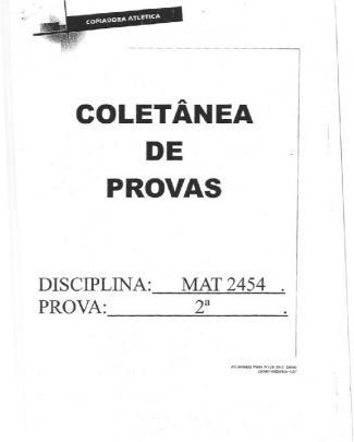 Coletanea P2 - Mat2454