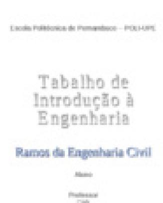 Ramos Da Engenharia Civil - Trabalho