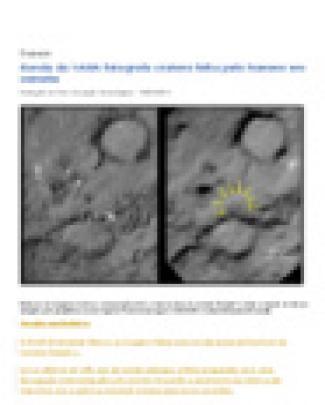 Sonda Da Nasa Fotografa Cratera Feita Pelo Homem Em Cometa