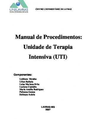 Manual De Procedimentos Em Uti - Trabalho