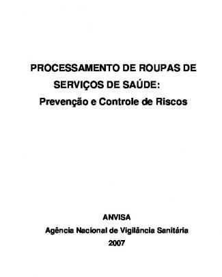 Manual Da Lavanderia Hospitalar 2007 Anvisa