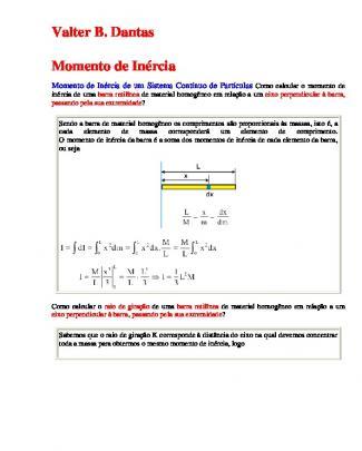 Momento De Inércia.mecanica Geometria
