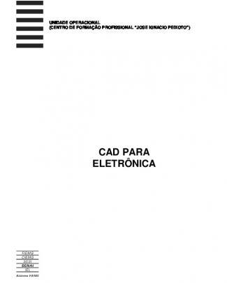 140 - Apostilas - Senai - Cad Para Eletronica