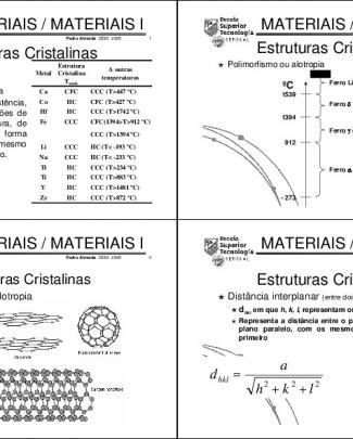 Engenharia Dos Materiais - 4 Aula