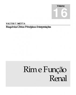 5º Semestre.part01 - Cap. 16 - Rim E Funo Renal - Motta