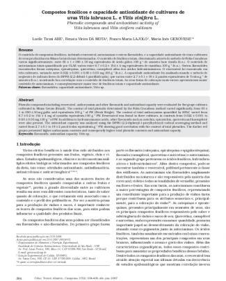 Compostos Fenolicos E Capacidade Antioxidade