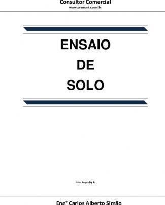 Ensaio De Solo