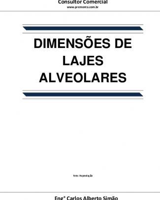 Dimensões De Lajes Alveolares