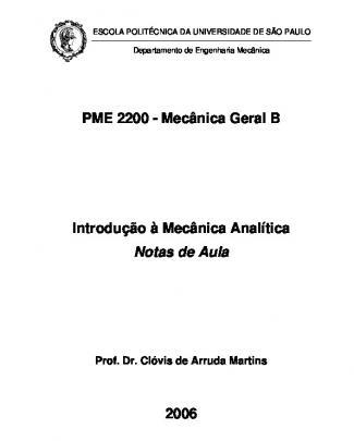 Introdução à Mecânica Analítica