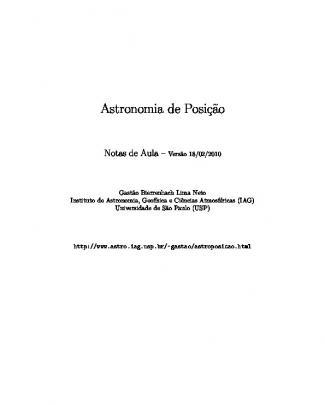 Astronomia De Posição