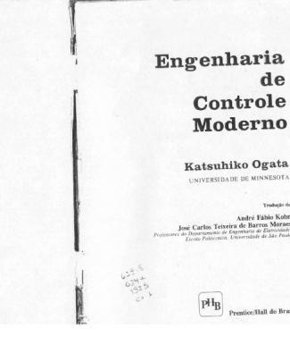 Engenharia De Controle Moderno