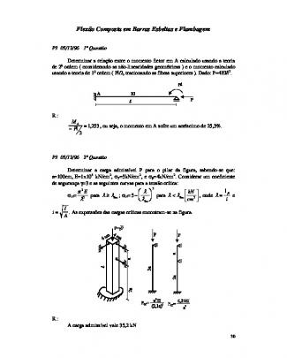 5. Flexção Composta Em Barras Esbeltas E Flambagem